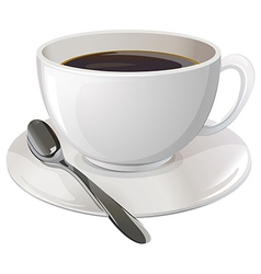 A cup of black coffee vector