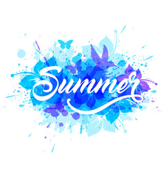 blue summer tropical background vector image