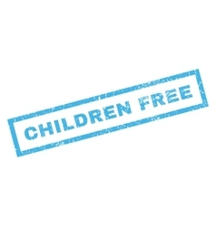 Children free rubber stamp vector