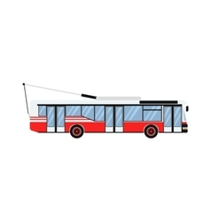City road trolleybus transport vector