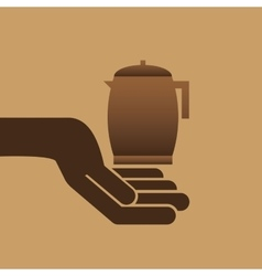 Cookie bakery pot coffee icon design graphic vector