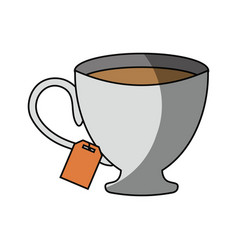 Cup tea drink vector