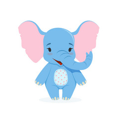 cute baby elephant funny jungle animal character vector image vector image