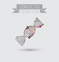 Dna helix medical research character symbol of vector