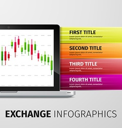 Exchange infographics vector
