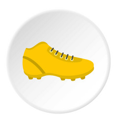 Football or soccer shoe icon circle vector