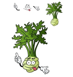 Funny cartoon celery vegetable vector