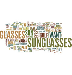 Golf accessories in the form of eyewear text vector