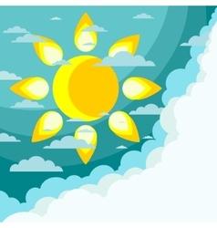 Good weather background vector image