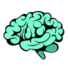 Human brain icon icon cartoon vector