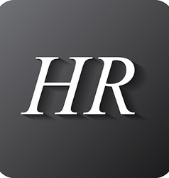 Human resources sign icon hr symbol workforce of vector