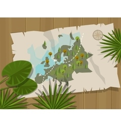 jungle map europe cartoon adventure vector image