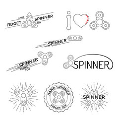 logo hand spinner toys vector image vector image