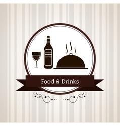 Menu and restaurant design vector image