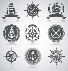 Nautical set 5 vector image vector image