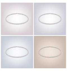 Pearl necklaces vector