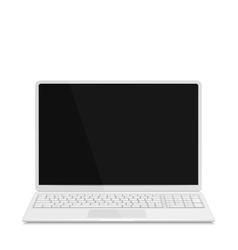 Realistic Laptop with Keyboard Isolated on White vector image vector image