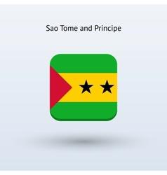 Sao tome and principe flag icon vector