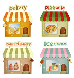 Set of cartoon shops vector