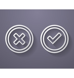 Set of check mark icons vector image vector image