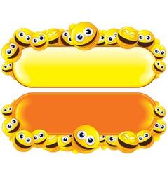 smileys banners vector image vector image