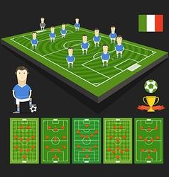 Soccer world cup team presentation vector image vector image