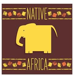 Stylized African elephant vector image