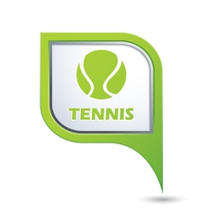 tennis GREEN pointer vector image vector image