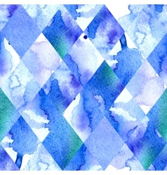 Watercolor geometric background vector image