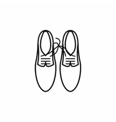 Shoes with laces tied together icon outline style vector