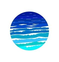 Ocean Sea Wave Logo Design Template vector image