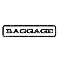 baggage watermark stamp vector image