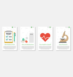 Four banners for medicine set vector