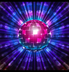 Fluorescent disco ball vector