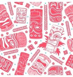 Vintage Aloha Tiki seamless pattern vector image