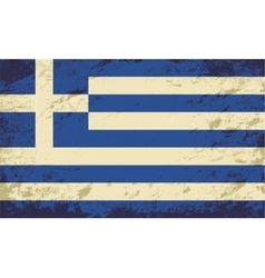 Greek flag grunge background vector