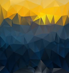 Dark blue yellow polygonal triangular pattern vector
