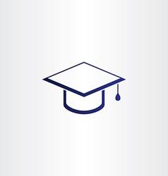 student graduation cap blue icon vector image