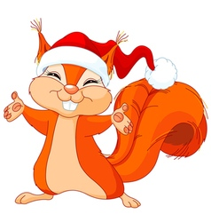 Christmas squirrel vector