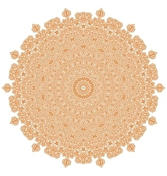 Orange mandala isolated vector