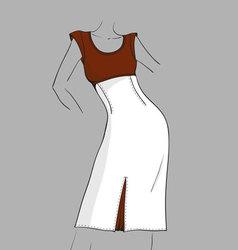 Sommer dress vector