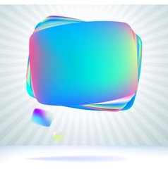 Abstract glossy speech bubble EPS8 vector image vector image