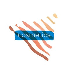 Abstract logo pyramid for cosmetics vector