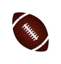 american football balloon isolated icon vector image vector image