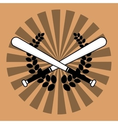 Baseball bats wreath vector