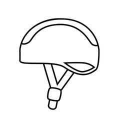 Bike helmet safety icon design vector image vector image