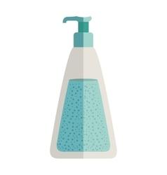 Bottle with dispenser for liquids vector