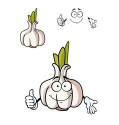 Cartoon whole fresh garlic bulb vector image