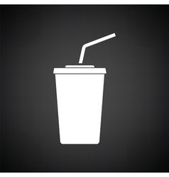Cinema soda drink icon vector