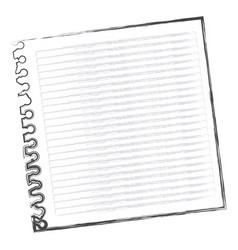 contour notebook school icon vector image